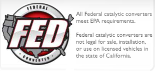 EPA grade Catalytic Converters-Select Above using year make model filters,
