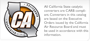 California Legal Catalytic Converters