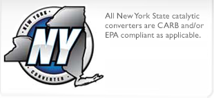 New York Legal Catalytic Converters-Select Above using year make model filters,ensure The EFN/TEst Group number matches